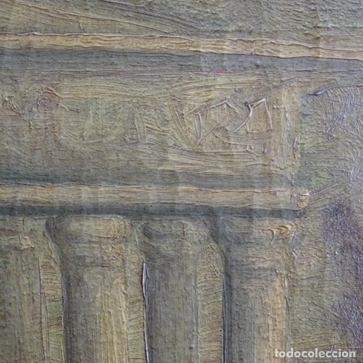 Arte: Óleo anonimo del siglo xviii-xix con mueble de madera tallado y espejos.gran calidad. - Foto 18 - 153742766