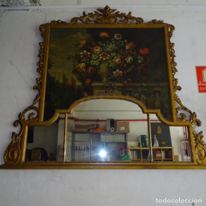 Arte: Óleo anonimo del siglo xviii-xix con mueble de madera tallado y espejos.gran calidad. - Foto 21 - 153742766