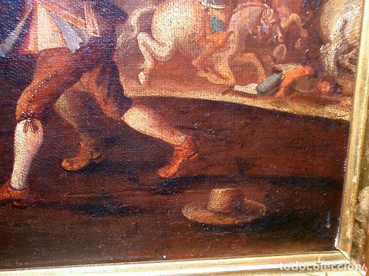Arte: antiguo oleo sobre lienzo, batalla - Foto 6 - 153768370