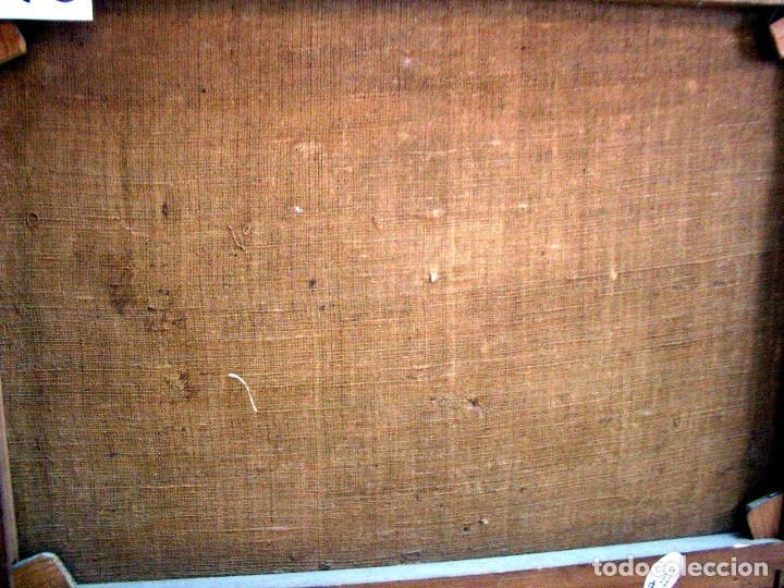 Arte: antiguo oleo sobre lienzo, batalla - Foto 10 - 153768370