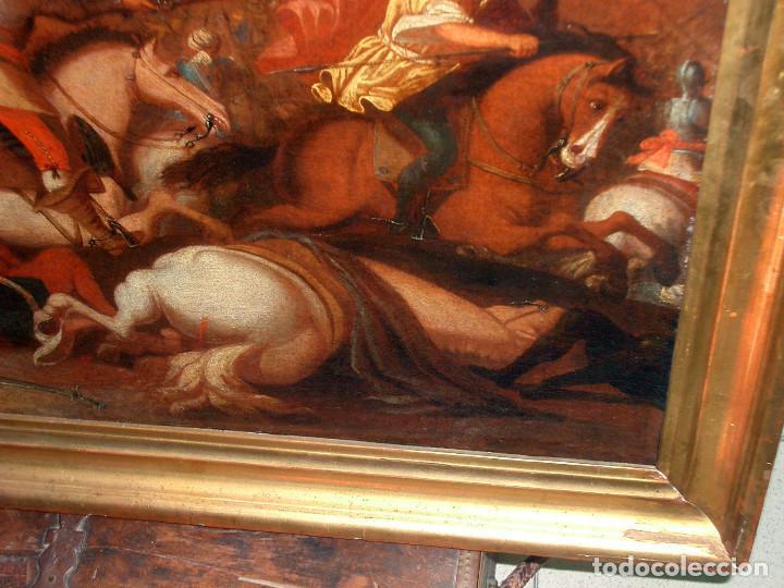 Arte: antiguo oleo sobre lienzo, batalla - Foto 8 - 153772870