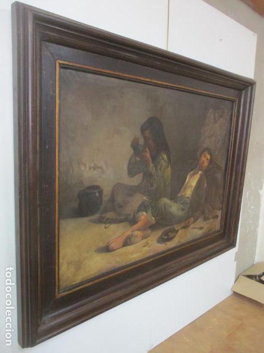 Arte: Óleo sobre Tela - con Bonito Marco de Madera - Firma J. Solana - Foto 2 - 153775318