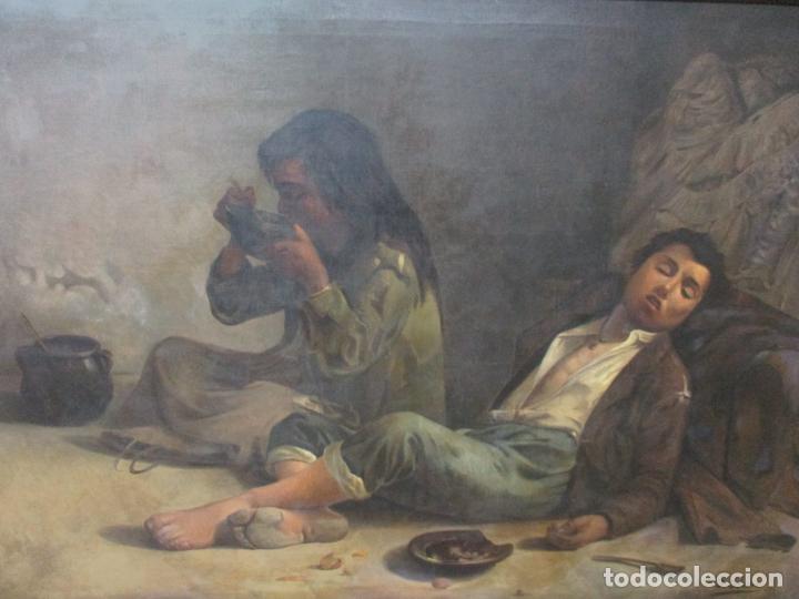 Arte: Óleo sobre Tela - con Bonito Marco de Madera - Firma J. Solana - Foto 3 - 153775318