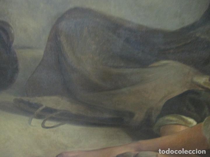 Arte: Óleo sobre Tela - con Bonito Marco de Madera - Firma J. Solana - Foto 5 - 153775318