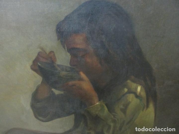 Arte: Óleo sobre Tela - con Bonito Marco de Madera - Firma J. Solana - Foto 7 - 153775318