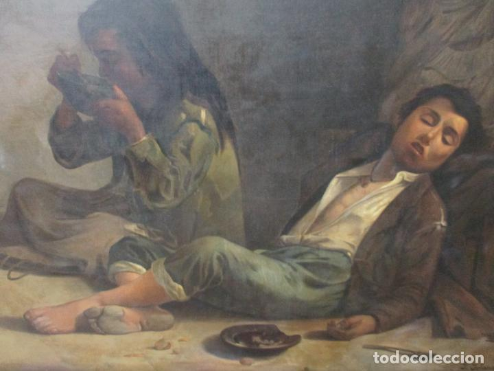 Arte: Óleo sobre Tela - con Bonito Marco de Madera - Firma J. Solana - Foto 8 - 153775318