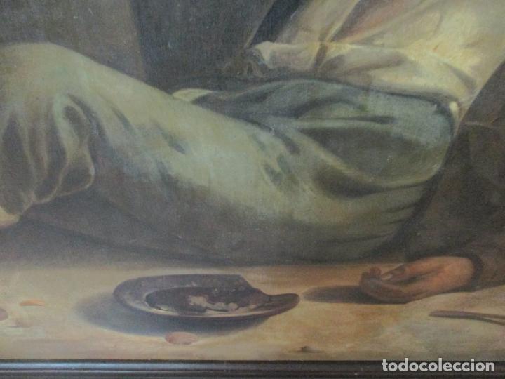 Arte: Óleo sobre Tela - con Bonito Marco de Madera - Firma J. Solana - Foto 10 - 153775318