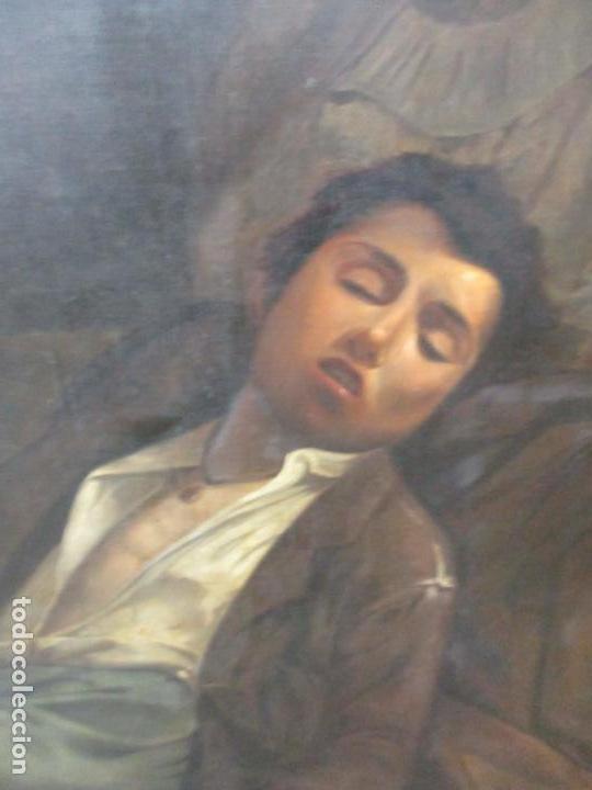 Arte: Óleo sobre Tela - con Bonito Marco de Madera - Firma J. Solana - Foto 11 - 153775318