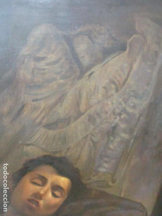 Arte: Óleo sobre Tela - con Bonito Marco de Madera - Firma J. Solana - Foto 12 - 153775318