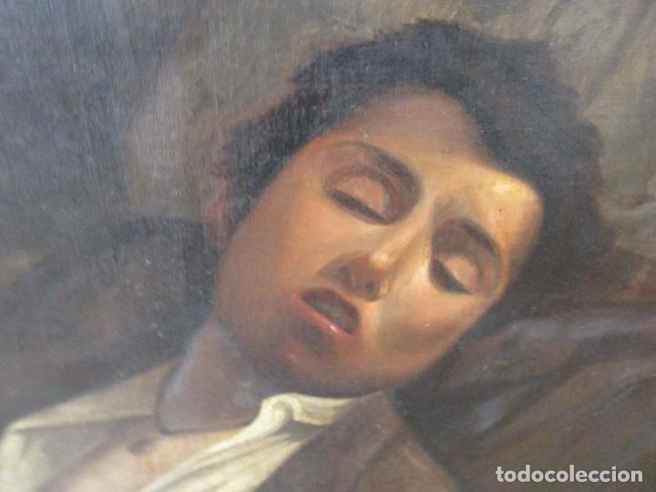 Arte: Óleo sobre Tela - con Bonito Marco de Madera - Firma J. Solana - Foto 13 - 153775318