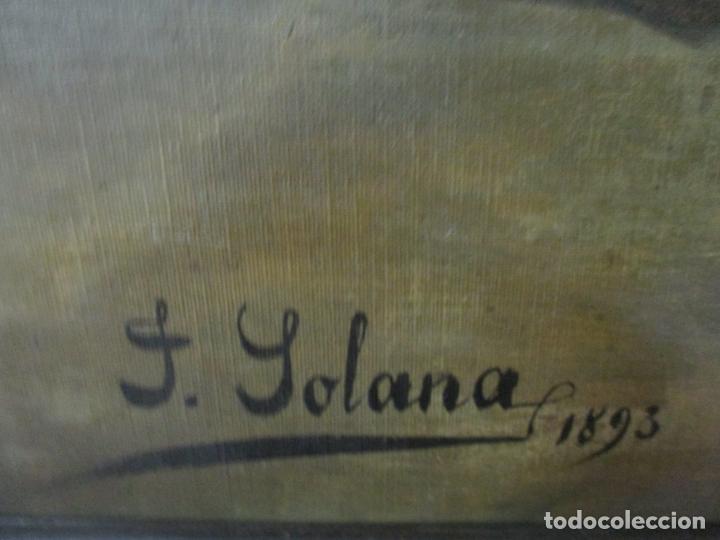 Arte: Óleo sobre Tela - con Bonito Marco de Madera - Firma J. Solana - Foto 14 - 153775318
