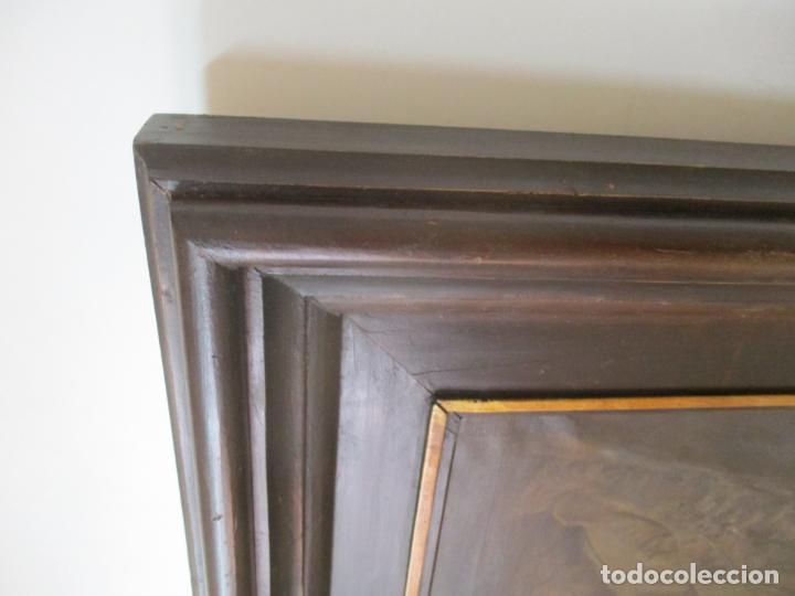 Arte: Óleo sobre Tela - con Bonito Marco de Madera - Firma J. Solana - Foto 15 - 153775318