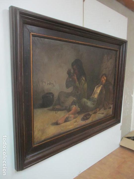 Arte: Óleo sobre Tela - con Bonito Marco de Madera - Firma J. Solana - Foto 17 - 153775318