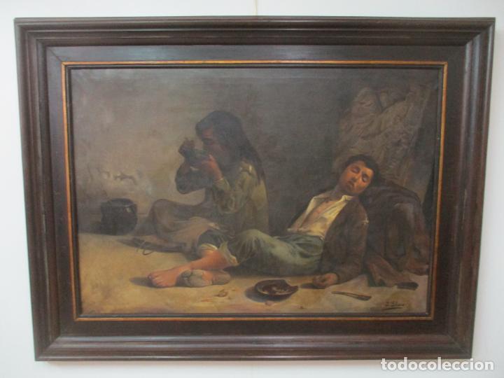 Arte: Óleo sobre Tela - con Bonito Marco de Madera - Firma J. Solana - Foto 23 - 153775318