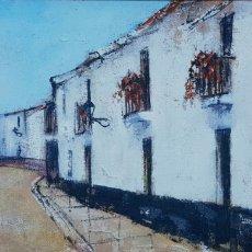 Arte: EDDY DOORENBOS (LA HAYA 1922-AMSTERDAM 2013), PRECIOSA PINTURA, CALLE SAN MIGUEL DE TORREMOLINOS.. Lote 153828086