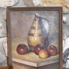 Arte: OLEO EN TABLILLA DE BODEGON FIRMADO R. LUENTIG. Lote 153875362