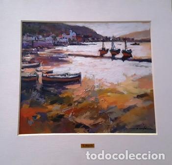 CUADRO - PINTURA AL OLEO - PORT DE LA SELVA - JOSEP MARFA GUARRO - BARCELONA - (Arte - Pintura Directa del Autor)