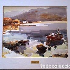 Arte: CUADRO - PINTURA ACUARELA - EL PORT DE LA SELVA - JOSEP MARFA GUARRO - BARCELONA - AÑO 1980 -. Lote 153901358