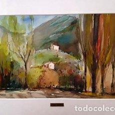 Arte: CUADRO - PINTURA ACUARELA - RIERA - ANDORRA - JOSEP MARFA GUARRO - BARCELONA - AÑO 1980 -. Lote 153940086