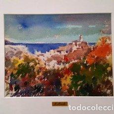 Arte: CUADRO - PINTURA ACUARELA - CADAQUES - JOSEP MARFA GUARRO - BARCELONA -. Lote 153942206