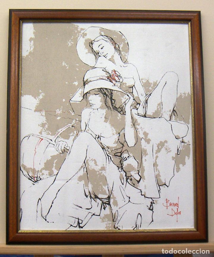 TÉCNICA MIXTA Y OLEOGRAFIA SOBRE TELA CON MARCO DE BERNARD DUFOUR (Arte - Pintura - Pintura al Óleo Contemporánea )
