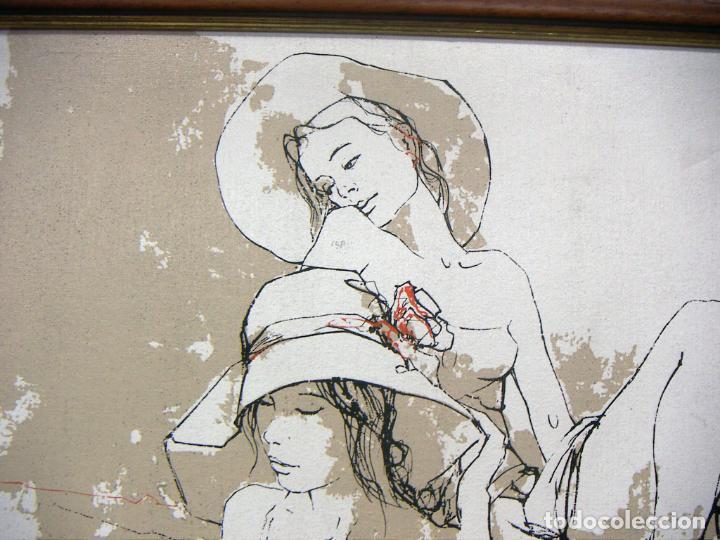 Arte: TÉCNICA MIXTA Y OLEOGRAFIA SOBRE TELA CON MARCO DE BERNARD DUFOUR - Foto 2 - 153942826