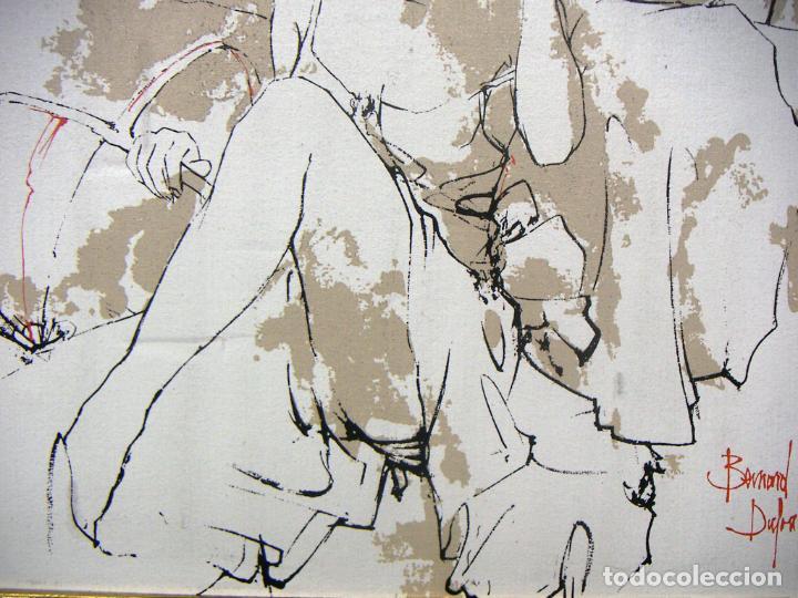 Arte: TÉCNICA MIXTA Y OLEOGRAFIA SOBRE TELA CON MARCO DE BERNARD DUFOUR - Foto 3 - 153942826