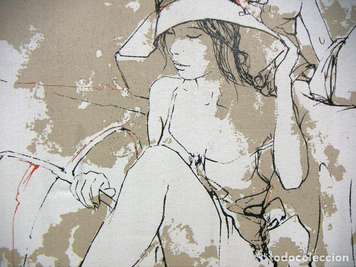 Arte: TÉCNICA MIXTA Y OLEOGRAFIA SOBRE TELA CON MARCO DE BERNARD DUFOUR - Foto 4 - 153942826