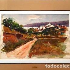 Arte: CUADRO - PINTURA ACUARELA - CADAQUES - JOSEP MARFA GUARRO - BARCELONA - AÑO 1992 -. Lote 153943266