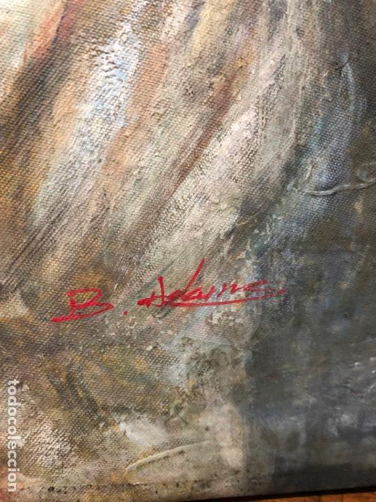 Arte: ANTIGUO OLEO SOBRE LIENZO ESCENA MODERNISTA - MEDIDA 61X50 CM - DESCONOZCO LA FIRMA - Foto 5 - 153976950