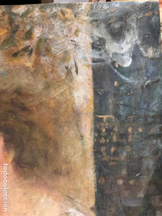 Arte: ANTIGUO OLEO SOBRE LIENZO ESCENA MODERNISTA - MEDIDA 61X50 CM - DESCONOZCO LA FIRMA - Foto 8 - 153976950