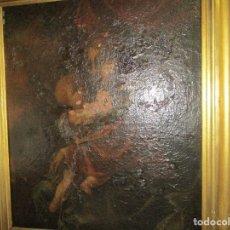 Arte: PINTURA RENACENTISTA OLEO PINTADO EN LIENZO VIRGEN Y NIÑO JESUS S XVI. Lote 152979478