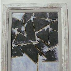Arte: CANOGAR, OLEO ABSTRACTO COPIA DEL AGUAFUERTE LOS ANDES. Lote 154010638