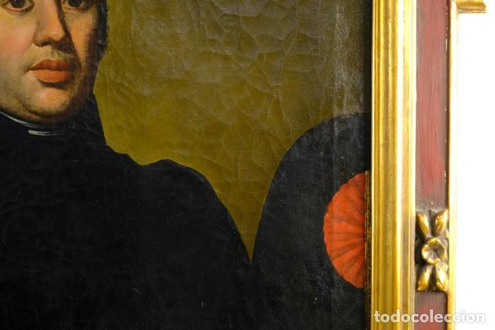 Arte: Óleo sobre lienzo Retrato caballero con bastón de mando primer tercio siglo XIX - Foto 4 - 154020798