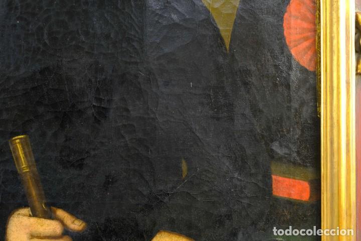 Arte: Óleo sobre lienzo Retrato caballero con bastón de mando primer tercio siglo XIX - Foto 5 - 154020798