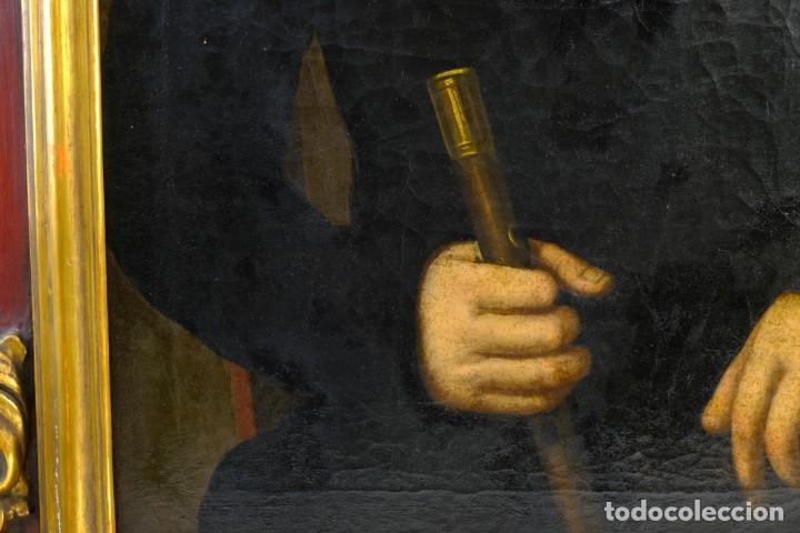 Arte: Óleo sobre lienzo Retrato caballero con bastón de mando primer tercio siglo XIX - Foto 6 - 154020798
