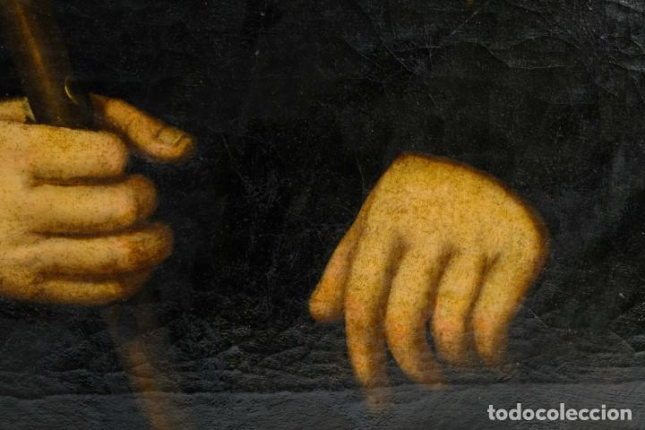 Arte: Óleo sobre lienzo Retrato caballero con bastón de mando primer tercio siglo XIX - Foto 7 - 154020798
