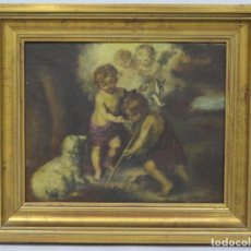 Arte: BONITO NIÑOS DE LA CONCHA. OLEO S/ LIENZO. AÑOS 40. Lote 154034154