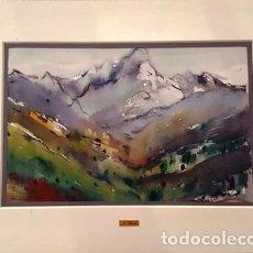 Arte: CUADRO - PINTURA ACUARELA - MONTSERRAT - JOSEP MARFA GUARRO - BARCELONA -. Lote 154057338