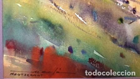 Arte: CUADRO - PINTURA ACUARELA - MONTSERRAT - JOSEP MARFA GUARRO - BARCELONA - - Foto 9 - 154057338