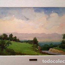 Arte: CUADRO - PINTURA ACUARELA -PRATS DE LLUÇANES - JOSEP MARFA GUARRO - BARCELONA - AÑO 1980 -. Lote 154057494