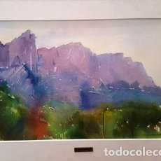 Arte: CUADRO - PINTURA ACUARELA - MONTSERRAT - JOSEP MARFA GUARRO - BARCELONA - AÑO 1980 -. Lote 154057518