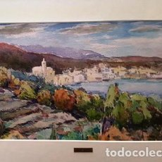 Arte: CUADRO - PINTURA ACUARELA - CADAQUES - JOSEP MARFA GUARRO - BARCELONA - AÑO 1980 -. Lote 154057586