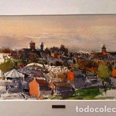 Arte: CUADRO - PINTURA ACUARELA - SOLSONA - JOSEP MARFA GUARRO - BARCELONA - AÑO 1980 -. Lote 154057626