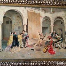Arte: DESPUÉS DE LA CORRIDA DE DENIS BELGRANO. COPIA DE FERNANDO NEGRO.. Lote 154114338
