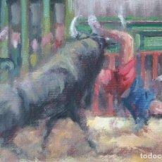 Arte: PINTURA TAURINA.EXPECTACULAR COGIDA.. Lote 154139462