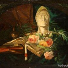 Arte: ESCUELA INGLESA DEL SIGLO XIX. OLEO SOBRE TELA FIRMADO F. ROY. BODEGON. Lote 154145110