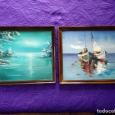 Arte: DOS ÓLEOS SOBRE LIENZO DE FRANCISCO GISBERT (PACO CALABUIG). Lote 154266542