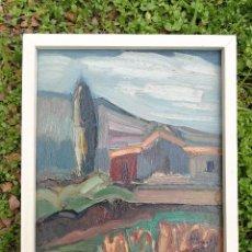 Arte: OBRA PINTURA PERE BRULL CARRERAS (VILANOVA I LA GELTRÚ,1943-210) CANYELLES, 1988, EN TABLA, 29X24CM.. Lote 154283582