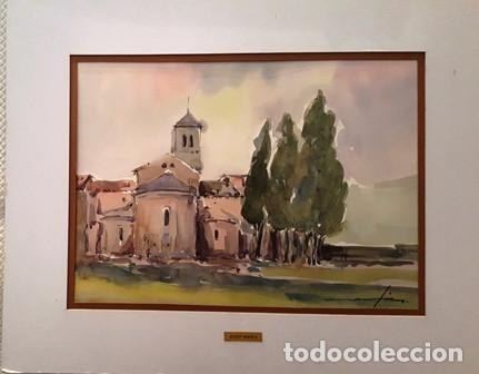CUADRO - PINTURA ACUARELA - ALT AMPURDA - JOSEP MARFA GUARRO - BARCELONA - AÑO 1990 - (Arte - Pintura Directa del Autor)